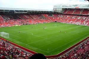 Old Trafford Football Stadium natural turf sports pitch