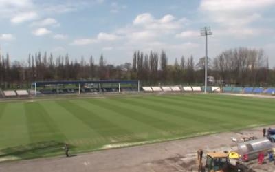 Kraków's football pitch transformed for England's Euro 2012 bid