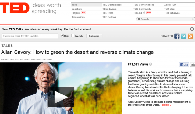 How to green the desert and reverse climate change