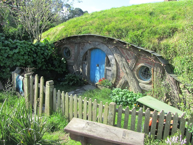 And finally, of course, grass turf makes the perfect roofing material for hobbit holes!
