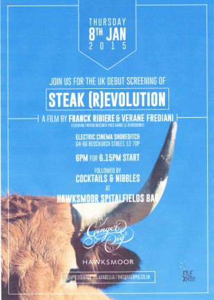 I was excited to be invited to the UK debut screening of Steak [R]evolution in London last week. This follows the search of documentary film director Franck Ribière and famous French butcher Yves-Marie Le Bourdonnec, for the best steak in the world.