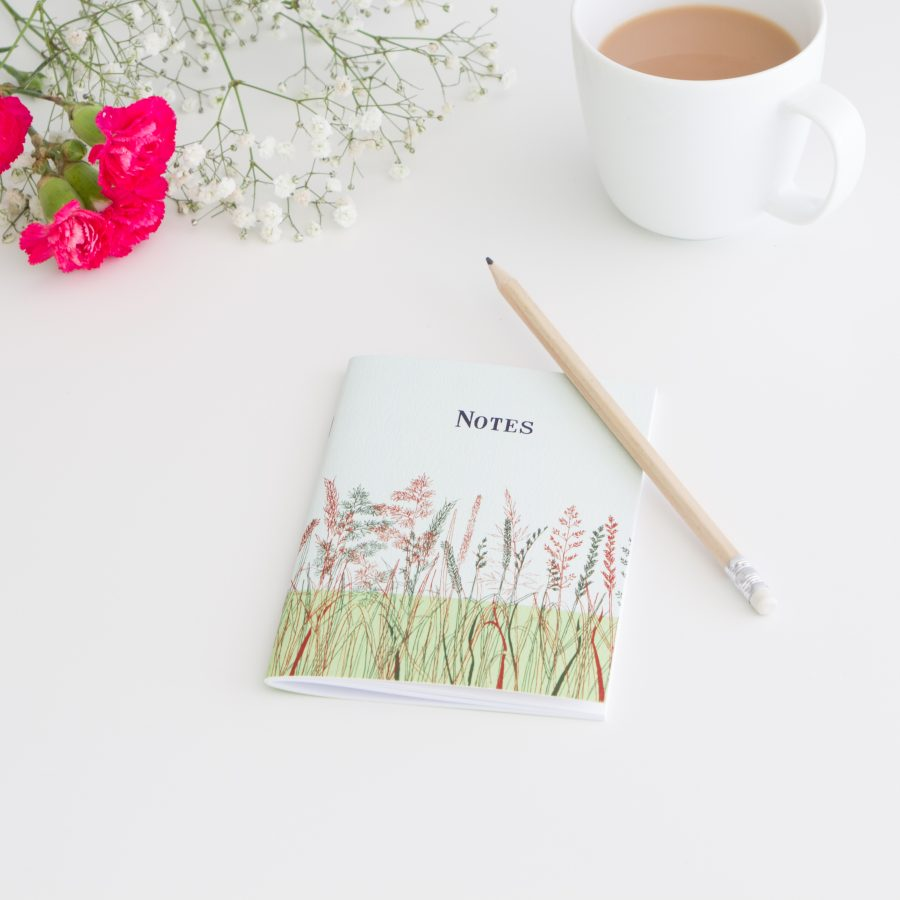 Grasses Notebook - Red