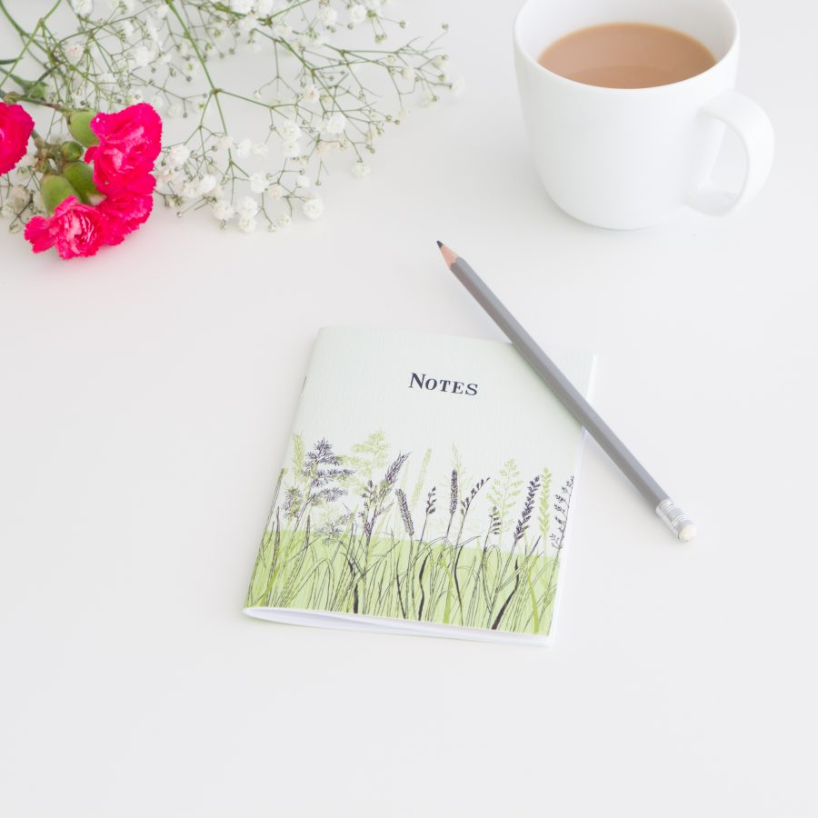 Grasses Notebook - Blue