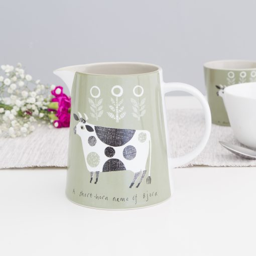 Green Cow Jug