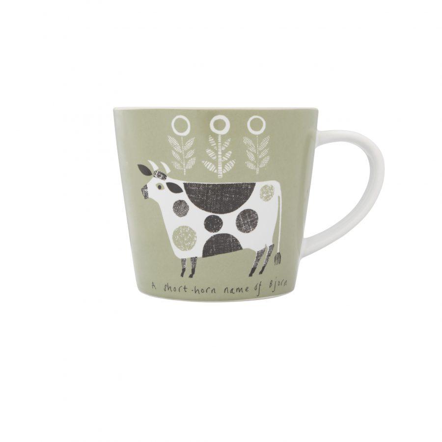 Green cow mug cut-out