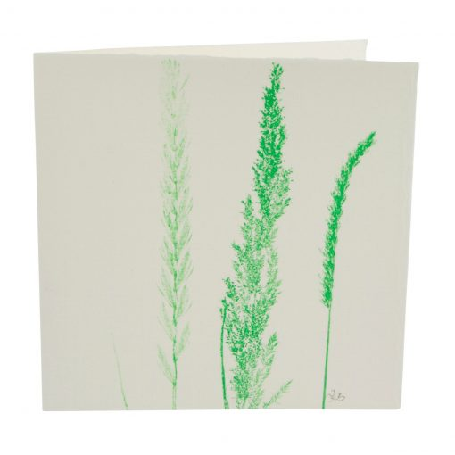 Grass print note card green cut-out