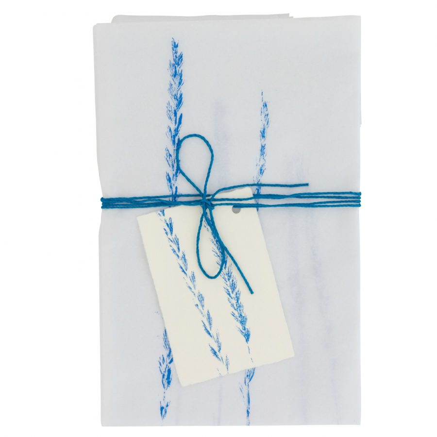 Tissue paper gift wrap blue cut-out