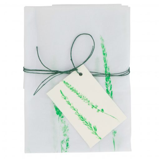 Tissue paper gift wrap green cut-out